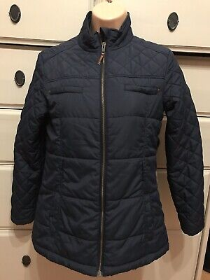 Girls Navy Lightweight Quilted Jacket By Next - Age 11-12 Years *Reduced*