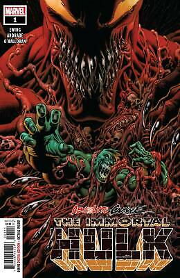 Absolute Carnage Immortal Hulk #1 MARVEL Comics Main Cover NM
