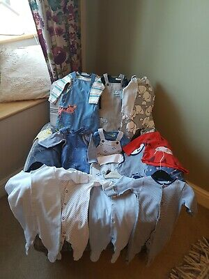 Mainly Next baby boys 3-6 months bundle 8 outfits dungarees 4 sleepsuits