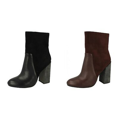 ANNE MICHELLE WOMENS LADIES PULL ON HIGH HEEL KNITTED CALF BOOTS F50876 SIZE