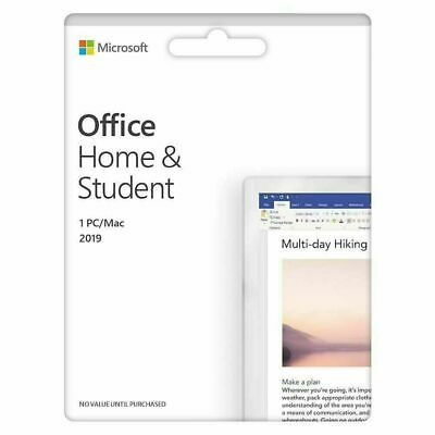 Microsoft Office 2019 Home & Student for Windows PC 1x Use, KEY CODE ONLY