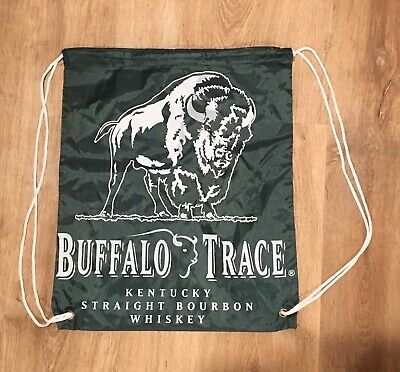 Buffalo Trace Kentucky Straight Bourbon Whiskey Nylon Drawstring Bag Advertising