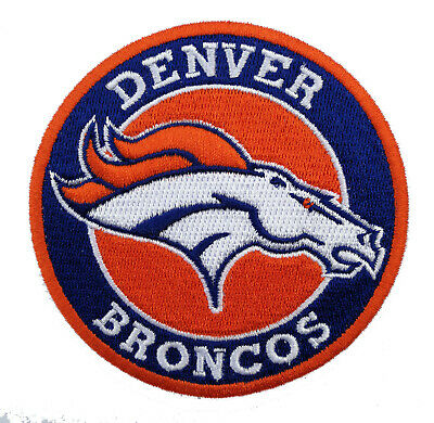 """🏈3.5"""" DENVER BRONCOS Round Iron-on NFL Football Jersey PATCH!"""