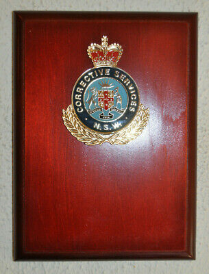 New South Wales Corrective Services wall plaque shield Australia