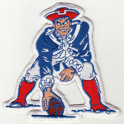 "🏈NEW ENGLAND PATRIOTS 4"" NFL Football Team Retro/Throwback Iron-on Jersey PATCH"