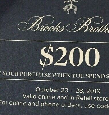 Brooks brothers gift card certificate promotion discount $200 off W@W! Best deal