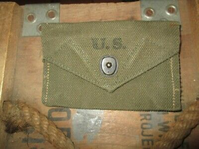 WWII WW2  M1942 Carlisle pouch  for Bandage First Aid Packet  US ARMY  ORIGINAL