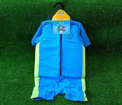 NEW Speedo Sea Squad Blue/Green Float Suit 5-6yrs old UPF 50 max 30kg chest 61cm