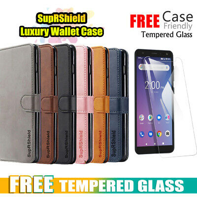 For Telstra Essential Pro SupRShield Wallet Leather Flip Magnetic Case Cover