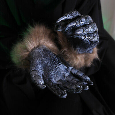 Adults Werewolf Claws Gloves Wolf Hands Paws Halloween Fancy Dress Claws Gloves