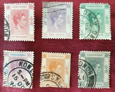 Hong Kong stamps a small lot of 1938 King George VI stamps 6 in total