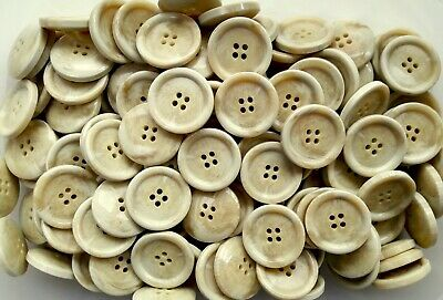 28mm Large Cream Pearlescent 2 Hole Buttons Joblot Various Pack Sizes Available