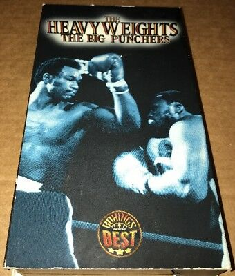 """Boxing's Best -  The Heavyweights: """"The Big Punchers"""" (VHS, 1997)"""
