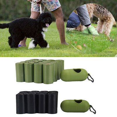 16 Roll/set Waste Storage Degradable PE Dogs Cats Pet Poop Bag With Dispenser