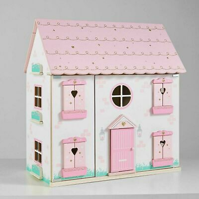 *NEW* Kids 3 Stories Wooden Dolls House Traditional Doll's House