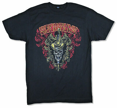 Scorpions Ornate Shield Crazy World Tour 2017 Black T Shirt New Official Band
