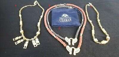 'new' pre columbian shaman 24k gold fill jewels-necklace maya-aztec-inca-vintage