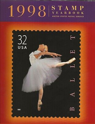 USPS 1998 Stamp Yearbook. With stamps and sleve. New, mint,