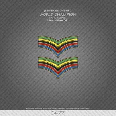 01348 World Champion Stripes Bands Black Edges Bicycle Decals Stickers