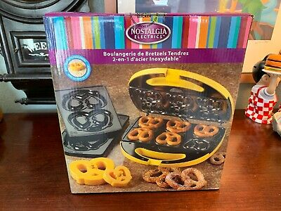Pretzel Maker Nostalgia Stainless Steel 2-in-1 Electric Soft Pretzel Machine
