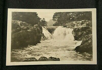 Lake District Skelwith Force And Langdale Pikes Abraham Keswick Postcard