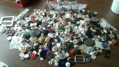 Huge Lot - Old Vintage Sewing Buttons - Large to Small Mixed Lot