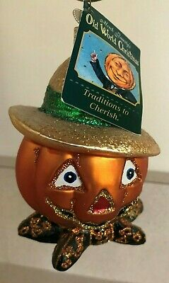 Old World Christmas Country Bumpkin Halloween Ornament Handblown Glass w tag