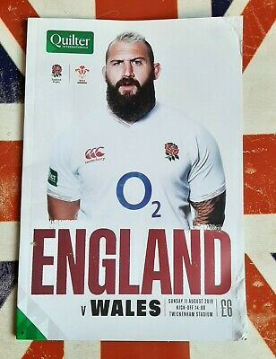 2019 ENGLAND v WALES Rugby Union Programme 11/08/2019 Quilter Cup 30-19
