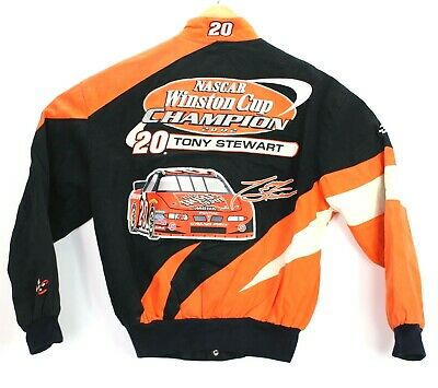 Chase Authentics Nascar Winston Cup 02 Jacket Tony Stewart Home Depot Men Small
