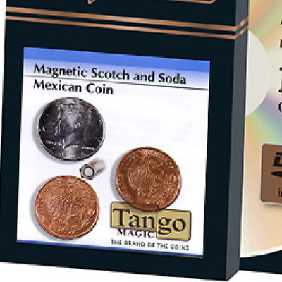 Scotch and Soda Magnetic Mexican Coin (D0052) by Tango