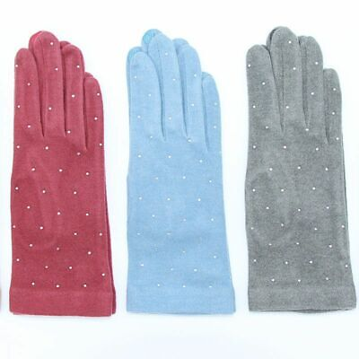 Stretchable Women Touch Screens Gloves Moisture-Absorbing Knitted Warmer Mittens