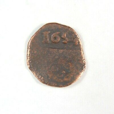 Pirate Treasure Era Spanish Colonial Coin Date 1654 - Exact Lot Shown 2924