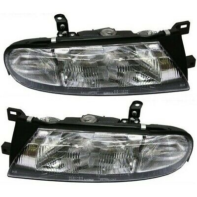 Headlight Set For 93 94 95 96 97 Nissan Altima Left and Right With Bulb 2Pc