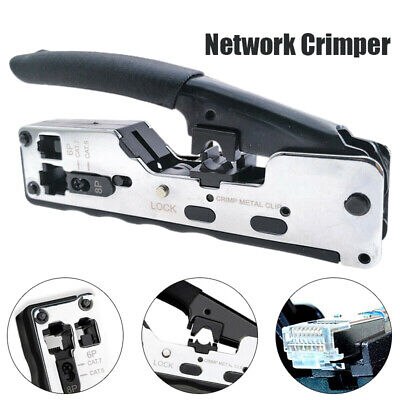 Metal Rj45 Crimping Tool Wire Network Plier Crimper For Cat7 Cat6 Cat A4N9 New