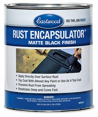 Eastwood Black Rust Encapsulator Paint Over 1 Gallon UV Heat Corosian Resistance