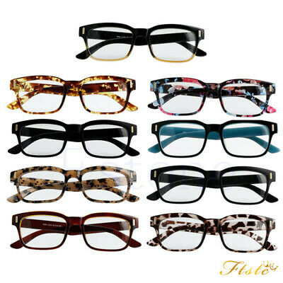 Women Men Retro Clear Plain Lens Frame Spectacles Fancy Nerd Geek Eye Glasses