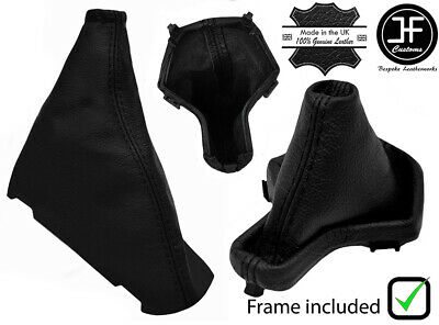 Black Leather Automatic Gear+Plastic Frame+Handbrake Gaiter For Freelander 2