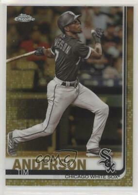2019 Topps Chrome Gold Refractor/50 #186 Tim Anderson Chicago White Sox Card