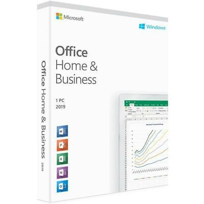 Microsoft Office home and business 2019 online activation key for Windows.
