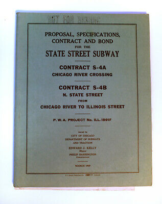 Chicago State Street Subway Construction Specifications