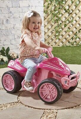 Kids Unicorn Quad Bike 6V Rechargeable Childrens Girls Pink Ride On Age 3+ NEW