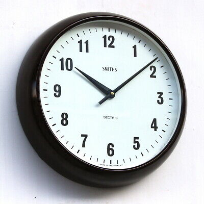 ENGLISH SMITHS 1970s Bakelite Vintage Retro Industrial Factory Wall Clock