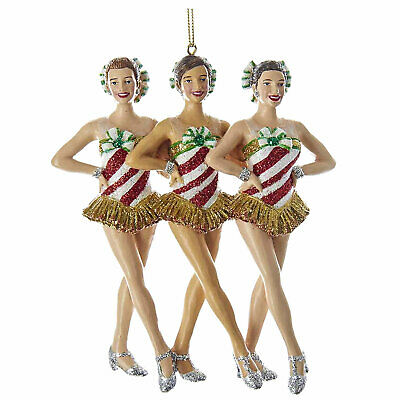 Kurt Adler Radio City Rockettes Kick Line Dancers Christmas Tree Ornament Decor