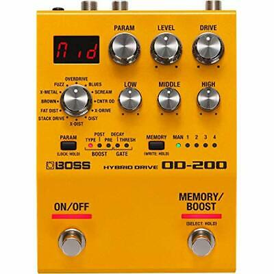 BOSS OD-200 HYBRID DRIVE Overdrive Guitar Effect Stomp Pedal EMS w/ Tracking NEW