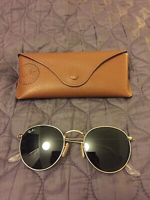 Ray Ban Round Metal Sunglasses RB3447 Gold Frame Unisex
