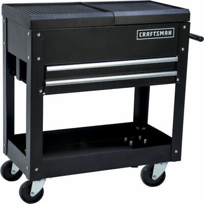 "Craftsman 31"" 2 Drawer 1 Shelf Mechanic Rolling Tool Cart DIY Garage Organizer"