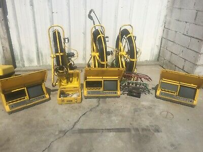 lot #2 (3) Sewer Camera Reel's, Monitors and Skids. Over 20 Reels in Stock