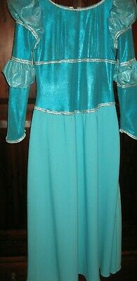 Stage Costume Turquoise Panto/ period/mediavel dress size 12/14
