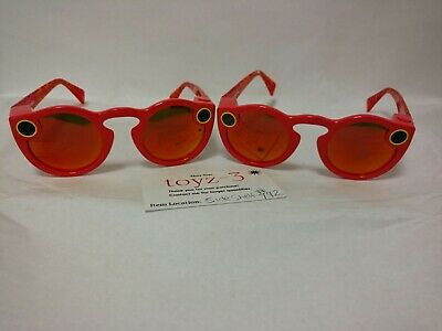 2 USED Orange spectacles snapchat Snap Sunglasses
