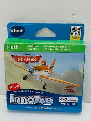 INNOTAB DISNEY PLANES Math Software Game Addition Counting 4-7 Fun Learning